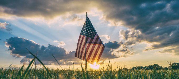 Flag in field